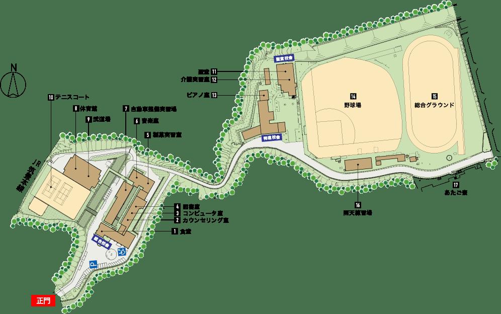 校舎のマップ